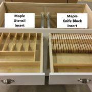 Utensil or knife block inserts