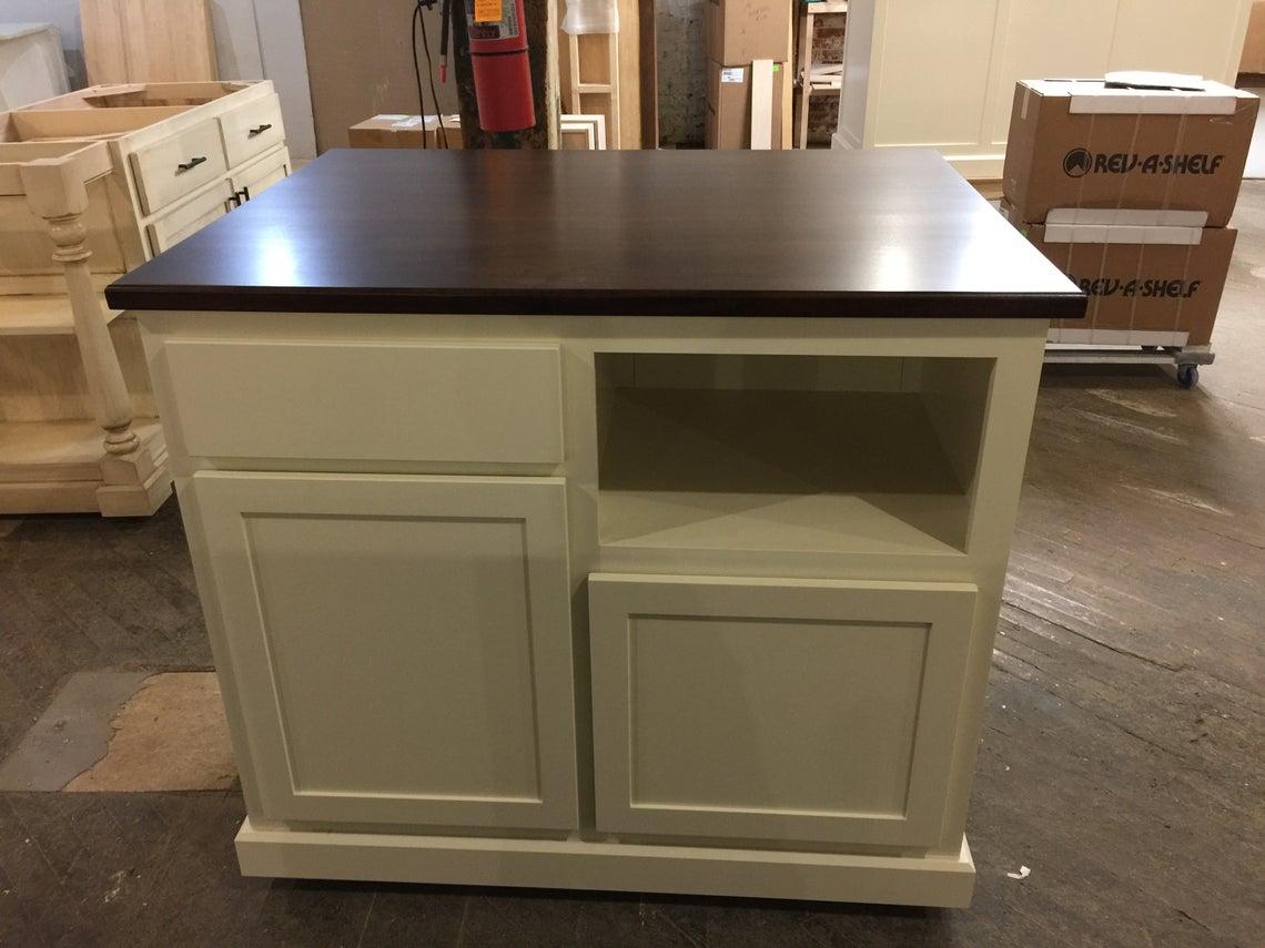 Wrf 4802 Kitchen Island With Microwave Shelf Worthy S Run Furniture