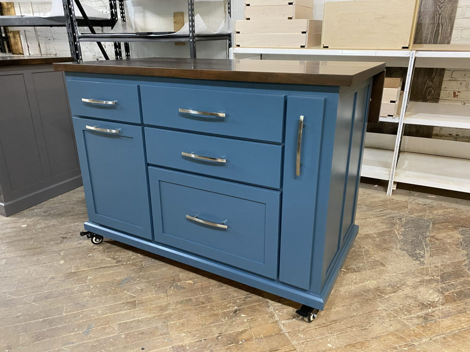 Kitchen Island With Dropleaf Wrf854 Worthy S Run Furniture