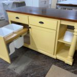 Kitchen Island with open shelves