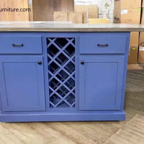 Kitchen Island w/ wine rack
